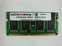 extrememory 256MB SDRAM SO-DIMM 133MHz, CL3, 144pin, Notebook Modul