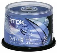 TDK DVD+R 4.7GB 16X 50er Spindel