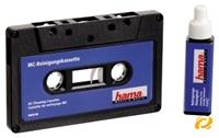 Hama MC-Reinigungskassette Audioclean  zur Reinigung der Tonköpfe im Kassetten- rekorder, inkl. Reinigungsmittel
