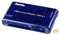 Hama 1000 &1 Cardreader USB2.0  zum Auslesen und Beschreiben aller gängigen Speicherkarten