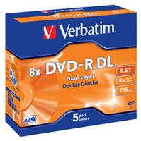 Verbatim DVD-R DL 8.5GB 8X Jewelcase 5er Pack (#43596) (item no. 90227375) - Picture #1