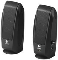 Logitech S-120 schwarz 2.0 Lautsprechersystem, 4,4 Watt Sinus, fr Computer, CD- und MP3-Player, mit Lautstrkeregler, 3,5mm-Kopfhrerbuchse