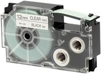 Casio XR-12 X 1 Farbband  schwarz auf transparent 12mm, für Casio KL-8100, KL-8200, CW-L300