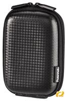Hama Hardcase Carbon Style 40G schwarz  robustes EVA-Material, Nackengurt und Gürtelschlaufe, flaches Innenfach, Innenmaß: 6x9.5x2.5cm