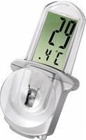 Hama LCD-Thermometer Window silber  Außenthermometer mit großem LCD-Display, mit Saugnapf zur Befestigung am Fenster