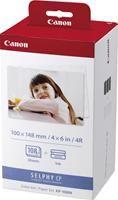 Canon KP-108IN 10x15cm  3x36 Blatt, inklusive Farbkartuschen, für Selphy CP-100/200/220/300/330/400, 500/510/530/600/ 710/720/730/ 740/750/760/800