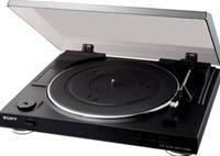 Sony PS-LX300  vollautomatischer Plattenspieler mit USB Schnittstelle zum Digitalisieren von LPs auf PC / Laptop, Riemenantrieb mit DC-Servomotor, eingebauter Phono-Entzerrer für direkten Anschluss an Hochpegelausgänge, mechanischer