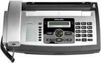 Philips Magic 5 ECO Voice DECT  Thermotransferfax, CLIP, 14400bps, Speicher für 50 Seiten, 10 Blatt Vorlageneinzug, 50 Blatt Papiervorrat, 200 Telefonbucheinträge, 10 Kurzwahltasten, Kopierer, SMS Funktion, DECT-Schnurlostelefon,