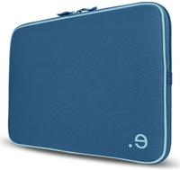 be.ez LA robe Color 2Blue  für MacBook Pro 39.1cm/15.4', innen hellblau, LRPu-Technologie, Stärke der äusseren Schutzschicht 5mm, Reissver- schlussblende an der Innenseite, Ver- wendung allein oder in grösserer Tasche, passgenau, optimaler Schutz vor