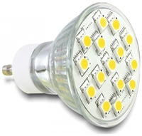 DeLOCK Lighting LED 15x SMD warmweiss Sockel GU10, 3.5 Watt