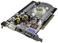 AXLE GeForce 5200 FX 256MB PCI  GeForce 5200 FX, 128MB DDR1, 128-bit, DVI-, VGA- und TV-Ausgang, 250MHz GPU, 366MHz Speicher, Shader Model 2.0