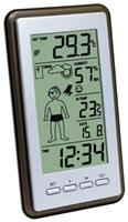 Proficell technoline WS 9632 IT schwarz  Innen- und Außentemperatur, Innenluftfeuchtigkeit, Wettervorhersage mit Wetterboy, Raumkomfortstufe, Uhr, Kalender