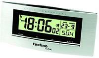 Proficell WT182 aluminium/schwarz  Funkwecker, Temperaturanzeige, Datumsanzeige, Snooze, Licht
