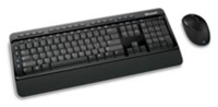 Microsoft Wireless Desktop 3000 schwarz Maus/Tastatur Set bestehend aus Tastatur und BlueTrack Maus, optischer Sensor 1000dpi, 5 Tasten inklusive Scrollrad, 4-Wege Scrollfunktion, Multimedia-Sondertasten, deutsche Tastenanordnung, Spritzwasserschutz, fr Rechts- und Linkshnder geeignet