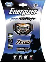 Energizer Advanced Pro-Headlight 7 LED Stirnlampe,  5x Nichia LEDs, 45 Lumen, 2x 5mm rote Kugel-LEDs, Spotlight/Flutlicht/alle LEDs/rote LEDs, schwenkbar, wetterfest (IPX4), 20h Betriebszeit, inkl. 3x AAA Alkali-Batterien
