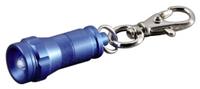 Hama Mini Taschenlampe KC-10 blau  Aluminiumgehäuse, stossfest, spritzwassergeschützt, 3.6cm lang, Durchmesser ca. 1.5cm, weisse LEDs , Batterien (4x AG3 Knopfzelle)