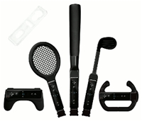 Sports Pack Brooklyn 8 in 1 Black 8 in 1 Sports Set Black Nintendo Wii Zubehr, deutsch
