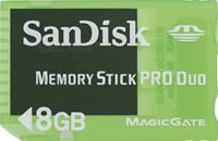 SanDisk Memory Stick PRO Duo 8GB Gaming Sony PSP Zubehör