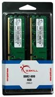 G.Skill 4GB DDR2 Kit 800MHz, PC2-6400U, CL5-5-5-15, 2x 2GB Kit
