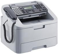 Samsung SF-650 grau Faxen/Kopieren, 600x300dpi, 18 Seiten/ Min., 250 Blatt Zufuhr, 33600bps, USB, schnurgebundenes Telefon, Normalpapier/ Laserfolie/Laserglanzpapier