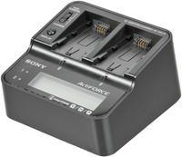 Sony AC-VQV10 Netzteil/Ladegerät  für je zwei Akkus, passend für Akkus der P-, H- und V-Serie