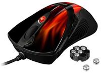 Sharkoon FireGlider schwarz  USB, Laser, 3600dpi, 7-Tasten, programmierbar, Scrollrad, 1.8m Kabel, anpassbares Gewichtsmagazin