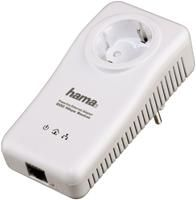 Hama Powerline-LAN-Adapter Socket weiss 200Mbps, 128bit AES, QoS, Stromsparfunktion, inkl. Cat5e UTP LAN-Kabel