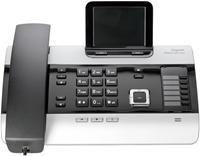 Gigaset DX800A schwarz/silber  analog/ISDN/VoIP, DECT/GAP, Farbdisplay, Anrufbeantworter, CLIP, 750 Namen Telefonbuch, Freisprechen, LAN, Bluetooth, hörgerätekompatibel, strahlungsreduziert