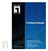 Digital Data Communications  LEVELONE IAT-1900 IP Audiocast Manager Software unlimited, Verwaltung von beliebig vielen IAT-1000 erstellen, importieren, exportieren und verwalten von Playlists und Musikbiblio- theken, abspielen verschiedener Musik-