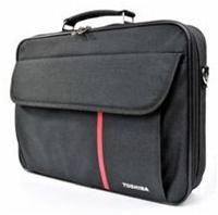 Toshiba Carry Case Value Edition schwarz für Notebooks bis (40,6cm) 16' bis 39.6cm/15.6', Polyester/Nylon, gepolstertes Notebookfach, zusätzliche Vortasche für mobiles Zubehör, verstellbarer Schulterriemen, geringes Gewicht, kompakte Größe, Kollektion 2010