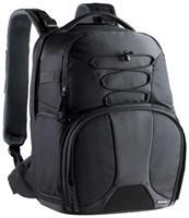 Cullmann Lima DayPack 600+ schwarz  zwei getrennte Fächer für Foto/Video- und Reise-Ausrüstung, extrem strapazier- fähiges und wasserabweisendes Außen- material, atmungsaktive Rückenpolsterung ATTACH SYSTEM, verdeckt vernähte Reißverschlüsse, Rückenfach für 39.6cm/