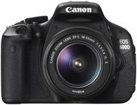 Canon EOS 600D Kit + EF-S 18-55mm IS II 18 Megapixel, CMOS-Sensor, DIGIC 4 Prozessor, 7.6cm/3' drehbahres Display, SD/SDHC/SDXC, USB-/AV-Anschluss, HDMI, Scene Intelligent Auto Modus, HD-Movie, 9-Punkt-Weitbereich-AF, Basic+ und Creative-Filter, inklusive 18-55mm Objektiv