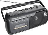 Panasonic RX-M40E9-K schwarz  Radio, Kassettenrecorder, 70Hz-10kHz, Mono, Batterie-/Netzbetrieb