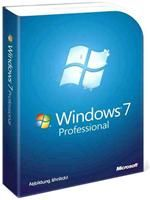 Microsoft Windows 7 Professional 64bit SP1  deutsch, DVD, Systembuilder