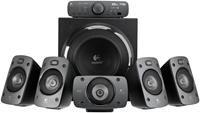 Logitech Z906 5.1 Lautsprechersystem THX und Dolby Digital   Direkteingang, 2x S/PDIF, 1x Koaxial, 1x Cinch, 1x 3.5mm Klinke, unterstützt Dolby Digital/DTS, THX-Zertifiziert, inkl. Fernbedienung