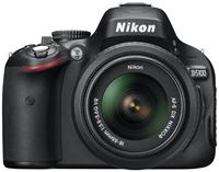 Nikon D5100 Kit AF-S DX 18-55 VR 16.2 Megapixel, CMOS-Bildsensor im DX-Format, 7.5cm Display, SD/SDHC/SDXC, USB-/HDMI-Anschluss, ISO6400, D-Movie, Live-View mit Motivautomatik, EXPEED 2 Engine, Infrarot-Sensor, HDR, Full HD, inkl. AF-S DX 18-55 VR Objektiv