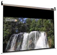 Celexon HomeCinema Line Motor Leinwand 240x135cm 16:9,  Gain 1.2, schwarze Rckseite, schwarzer Rand