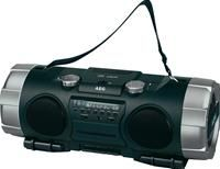 AEG SRP 4335 400W PMPO, CD-RW, MP3, Kassette, SD/MMC Slot, AUX In, Batterie/Netzbetrieb