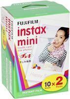 Fujifilm instax Mini Doppelpack mit 2x 10 Bilder  20 Aufnahmen, 54x68mm, für instax Minikameras