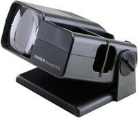 Kaiser diascop 50N Dia-Betrachter  mit 3-fach vergrößernder Doppellinse für gerahmte Dias 5x5cm und ungeschnittene Filmstreifen, Wechselschieber, Fallschacht für bis zu 40 Dias. Schwenkbares Oberteil, Netzanschluss, Linsen 76x76mm,