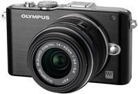 Olympus PEN E-PL3 1442 Kit schwarz/schwarz