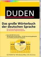 Duden Das große Wörterbuch der deutschen Sprache,