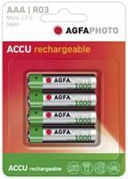 AgfaPhoto Micro AAA 1000mAh, NiMH, 4er Pack