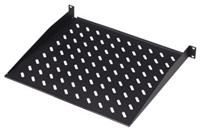 Digitus Fachboden 19' schwarz  perforierter Fachboden zur externen Montage an Reckgestellen, max. Tragkraft 25kg, zur Aufbewahrung von Kleinteilen/ nicht rackfähiger Hardware