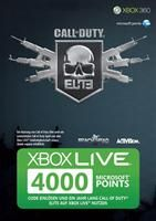 XBOX Live Points Card 4000 Punkte  Punkte Call of Duty Modern Warfare XBOX Live Points Card 4000 Punkte Call o XBox 360, Deutsche Version