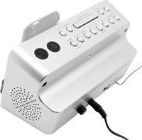 Soundmaster IP 1055 schwarz/silber,  Radio, 40 Watt, AUX-In, iPhone/iPod-Dock, Weckfunktion