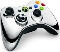 Microsoft Xbox 360 Wireless Controller Chrome Silber Limited Edition (X360)  XBox 360 Zubehör, deutsch