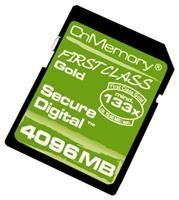 CnMemory SD Karte 4GB Gold