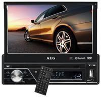 AEG AR 4026 DVD  MPEG4, MP3, JPEG, DVD/CD, Radio, 4x 40 Watt, 17.8cm Touchscreen, USB, AUX-In, Bluetooth, MultiMedia-/SD-Slot, abnehmbares Bedienteil, Fernbedienung