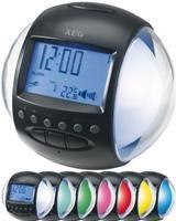 AEG RC 4117 Uhrenradio schwarz,  Radio, Weckfunktion, wechselnde Beleuchtung